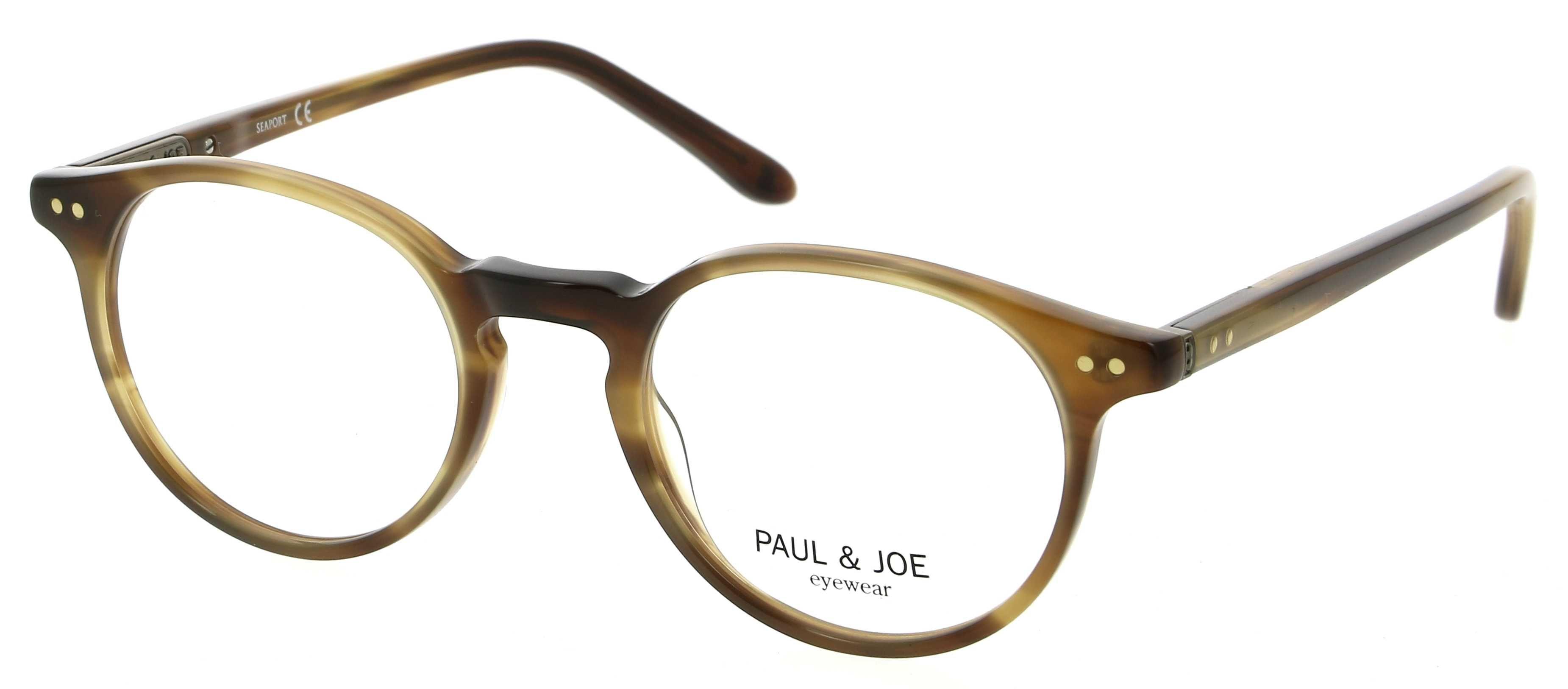 37ca73c16d6 Lunettes de vue PAUL   JOE PJ BENGALI25 E171 47 20 Homme Ecaille claire  Arrondie