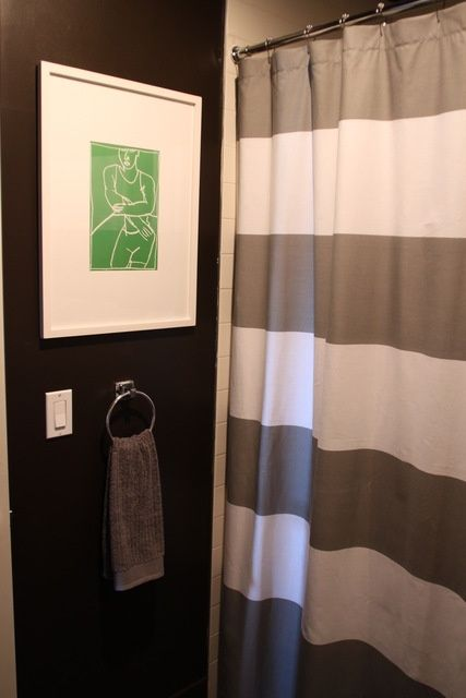 Striped Shower Curtain From West Elm Via Gilda Locicero Therapy
