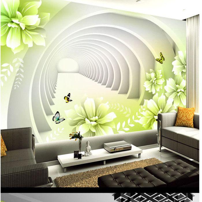 pas cher livraison gratuite 3d grandes murales tv fond espace papier peint fleurs murale. Black Bedroom Furniture Sets. Home Design Ideas