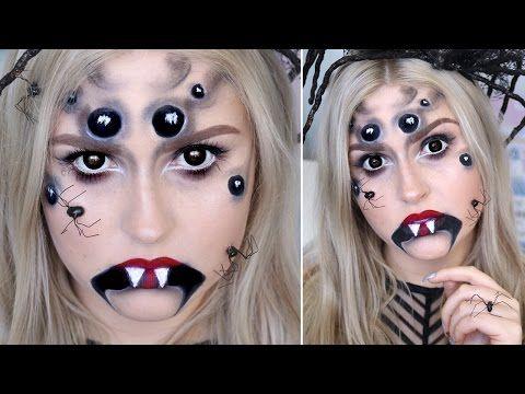 creepy spider halloween makeup ♡ arachnid queen tutorial
