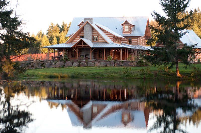 A Washington State Log Home on a Blueberry Farm
