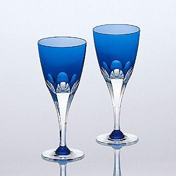 ペアワイングラス<br>ロイヤルブルー