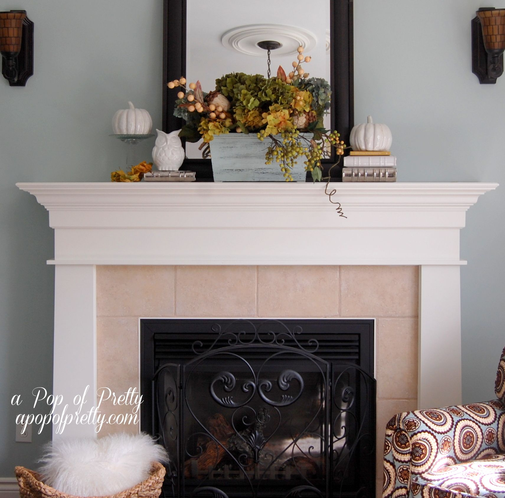 mantel decorating ideas fall mantel ideas a pop of pretty canadian decorating blog - Decor For Mantels