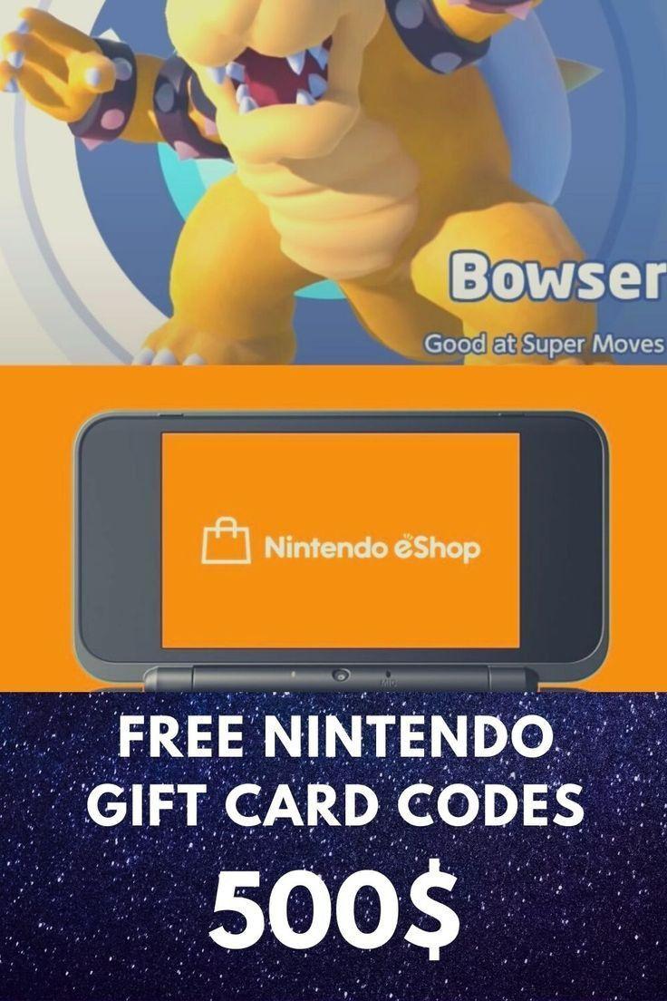 Free 500 nintendo gift cards codes nintendo