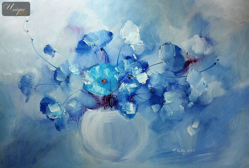 Picture Of Blue Flower Paintings Google Search