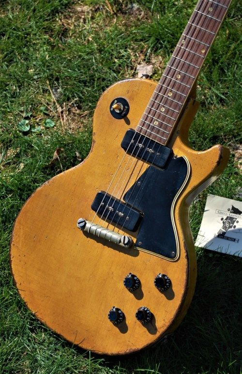 1957 Gibson Les Paul TV Special Limed mahogany,TV yellow > Guitars Electric Solid Body | Greg's Guitars #vintageguitars