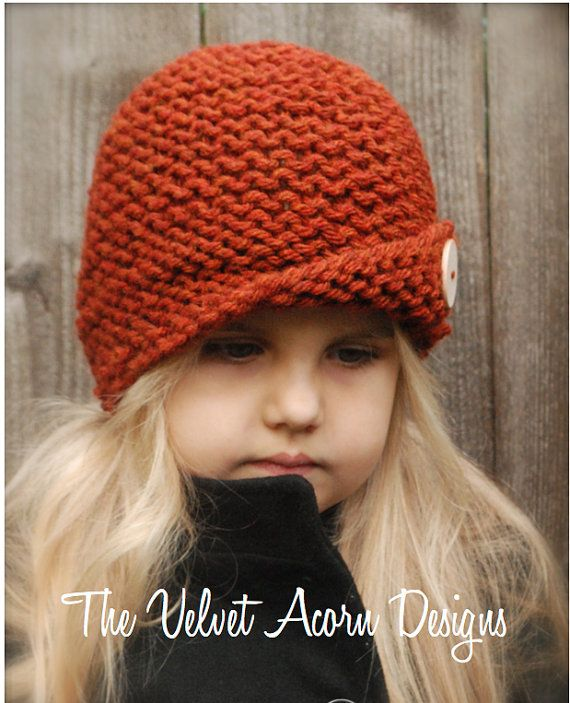 Rockford Cloche\' - KNITTING PATTERN (Toddler, Child, Adult sizes ...