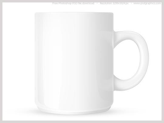 Free PSD White Coffee Mug Template Mug with space for text and logo