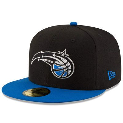 more photos c3bf1 25fe7 Men s Orlando Magic New Era Black Blue Official Team Color 2Tone 59FIFTY Fitted  Hat