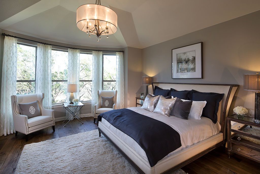 Highland homes rough hollow master bedroom lakeway for Cool master bedrooms