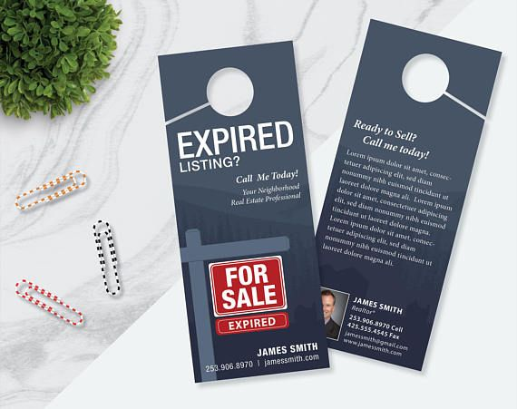 EXPIRED LISTING Real Estate Prospecting Door Hangers Realty