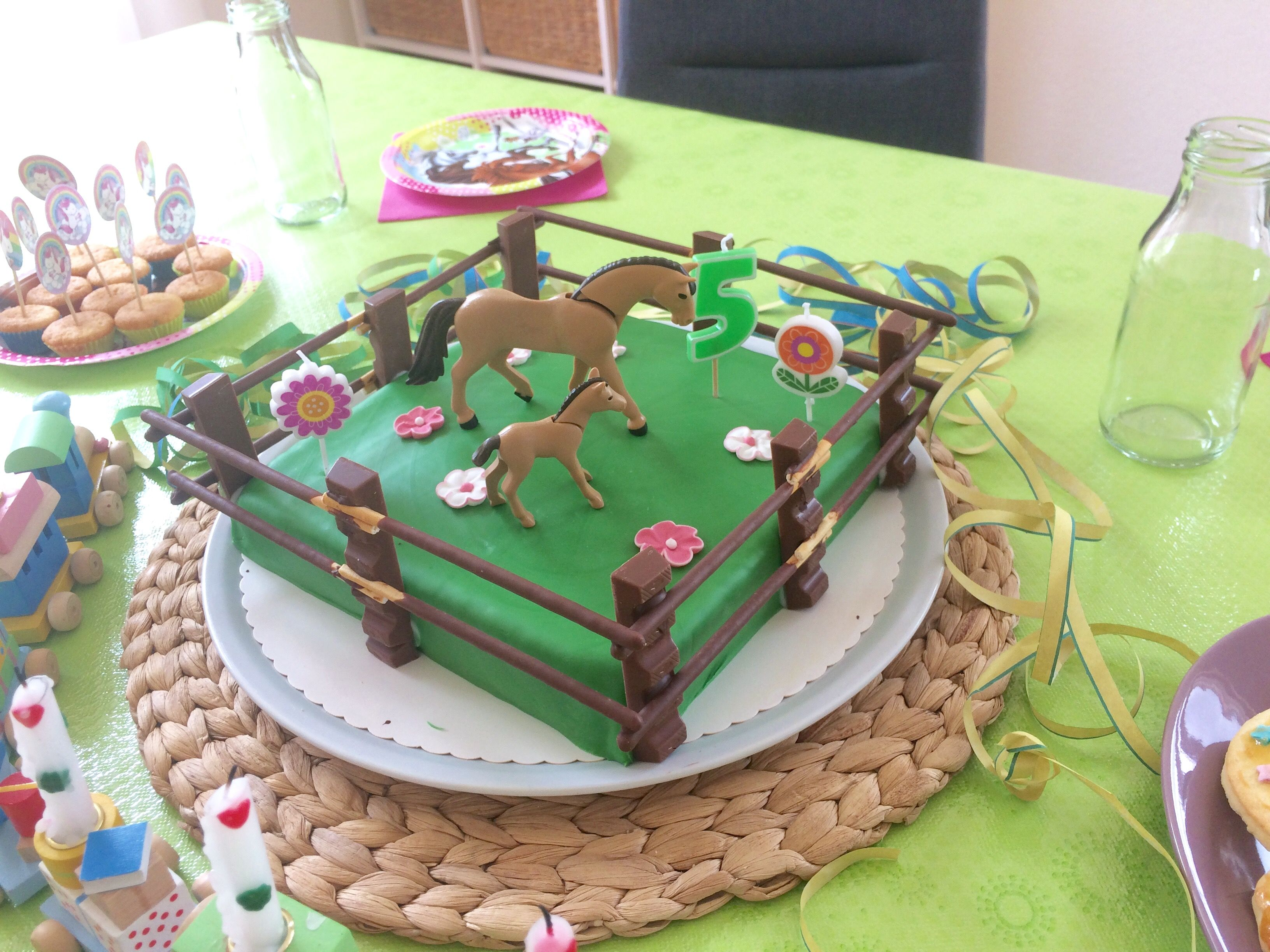 Pferdekuchen Geburtstag Koppel Birthday cake horses horse paddock ...