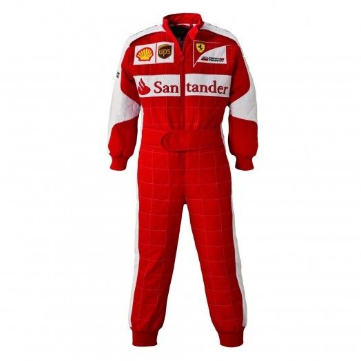 Children/'s Kids Boys Red Racing Car F1 Driver Overalls Suit Fancy Dress Costume