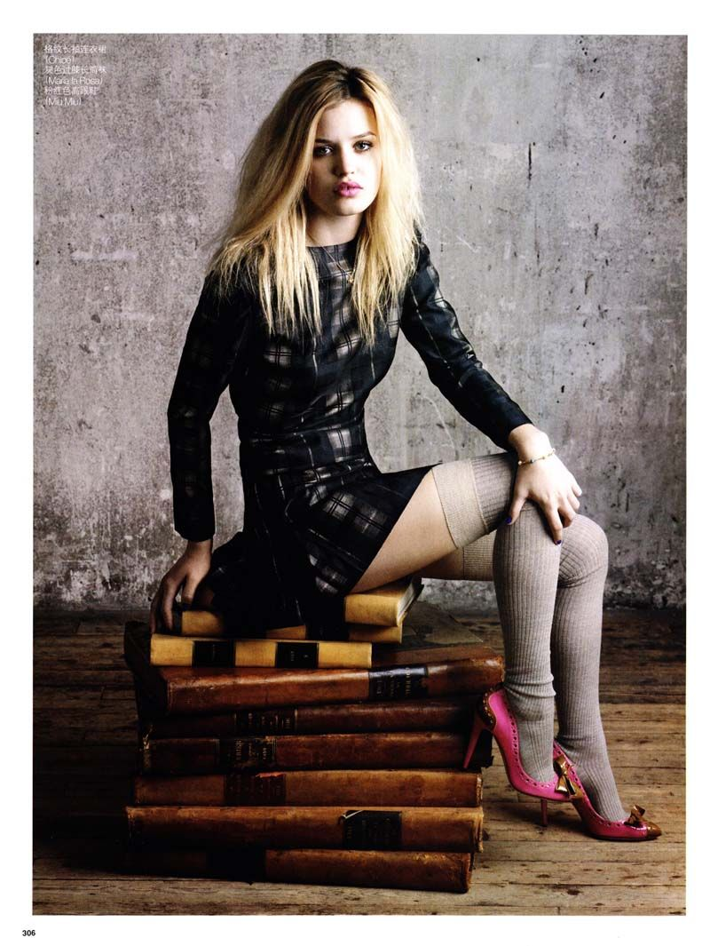 """Like A Rolling Stone"" | Model: Georgia May Jagger, Photographer: Max Vadukul, Vogue China, July 2010"