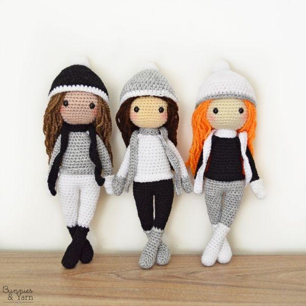 Sarah The Winter Doll Amigurumi Pattern Amigurumi Poppen Haken