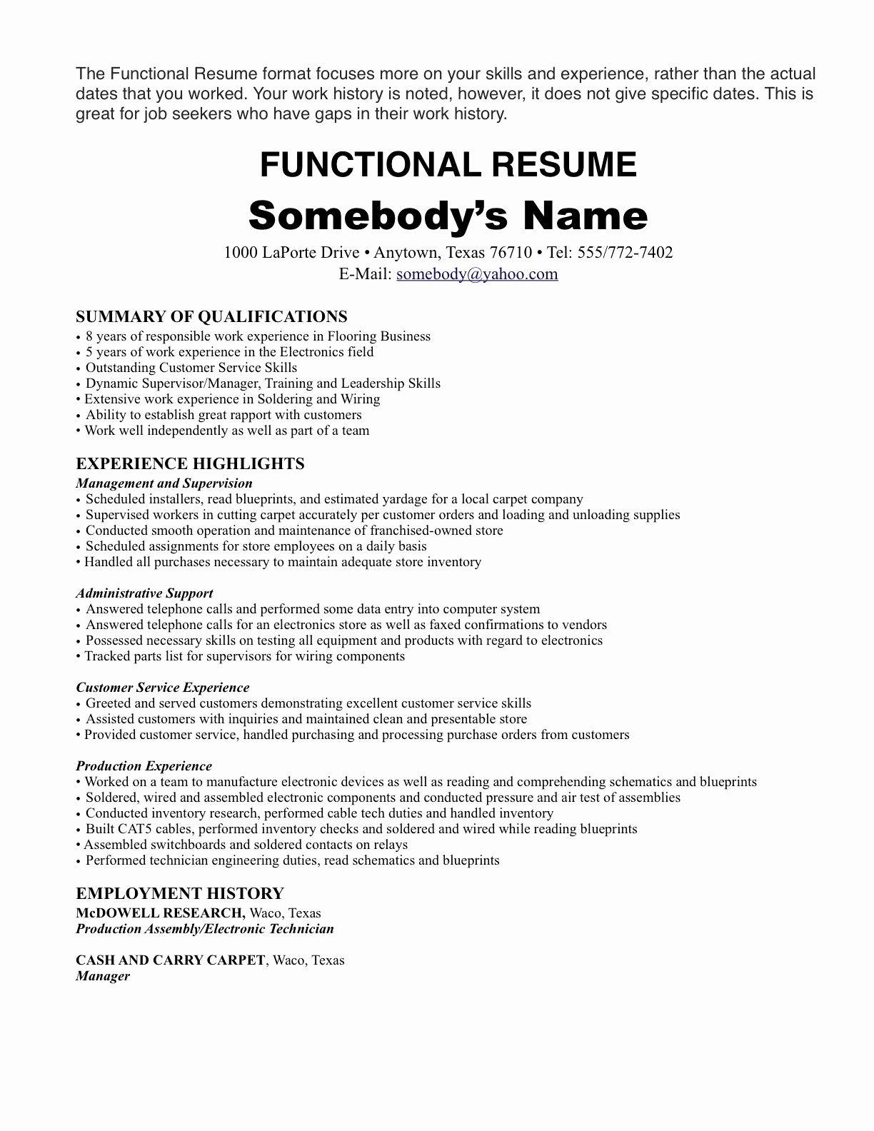 Resume Format Not Chronological | Resume Format | Pinterest | Resume ...
