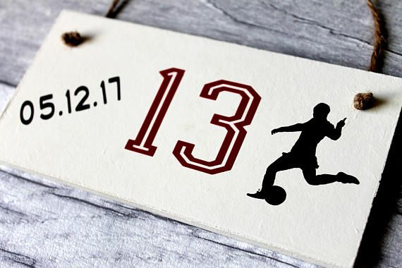 Soccer Gifts For Boys 13th Birthday Gift Soccer Gifts For Birthday Gifts Sign 13th Birthday Gifts Birthday Gifts For Teens