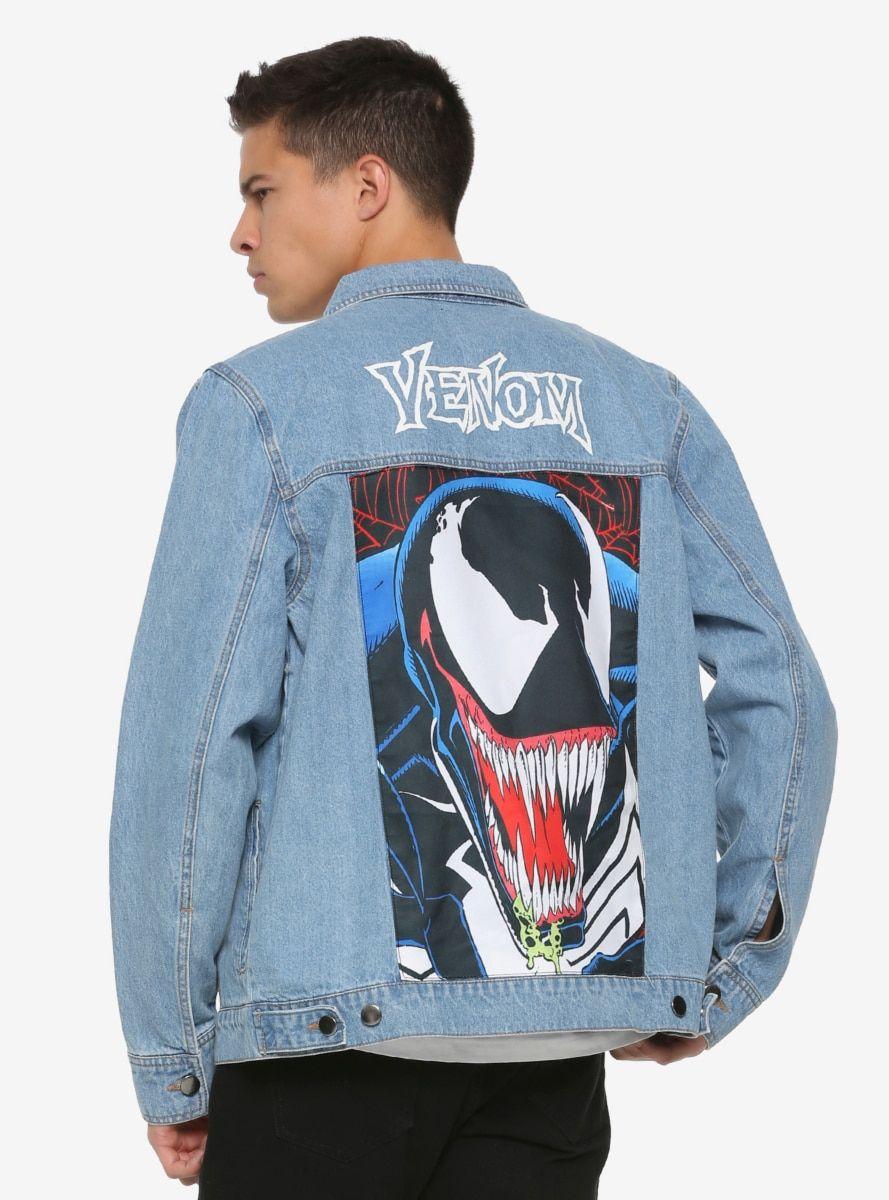 Marvel Venom Denim Jacket Ropa Pintada Pintura Para Ropa Chaquetas De Mezclilla [ 1200 x 889 Pixel ]
