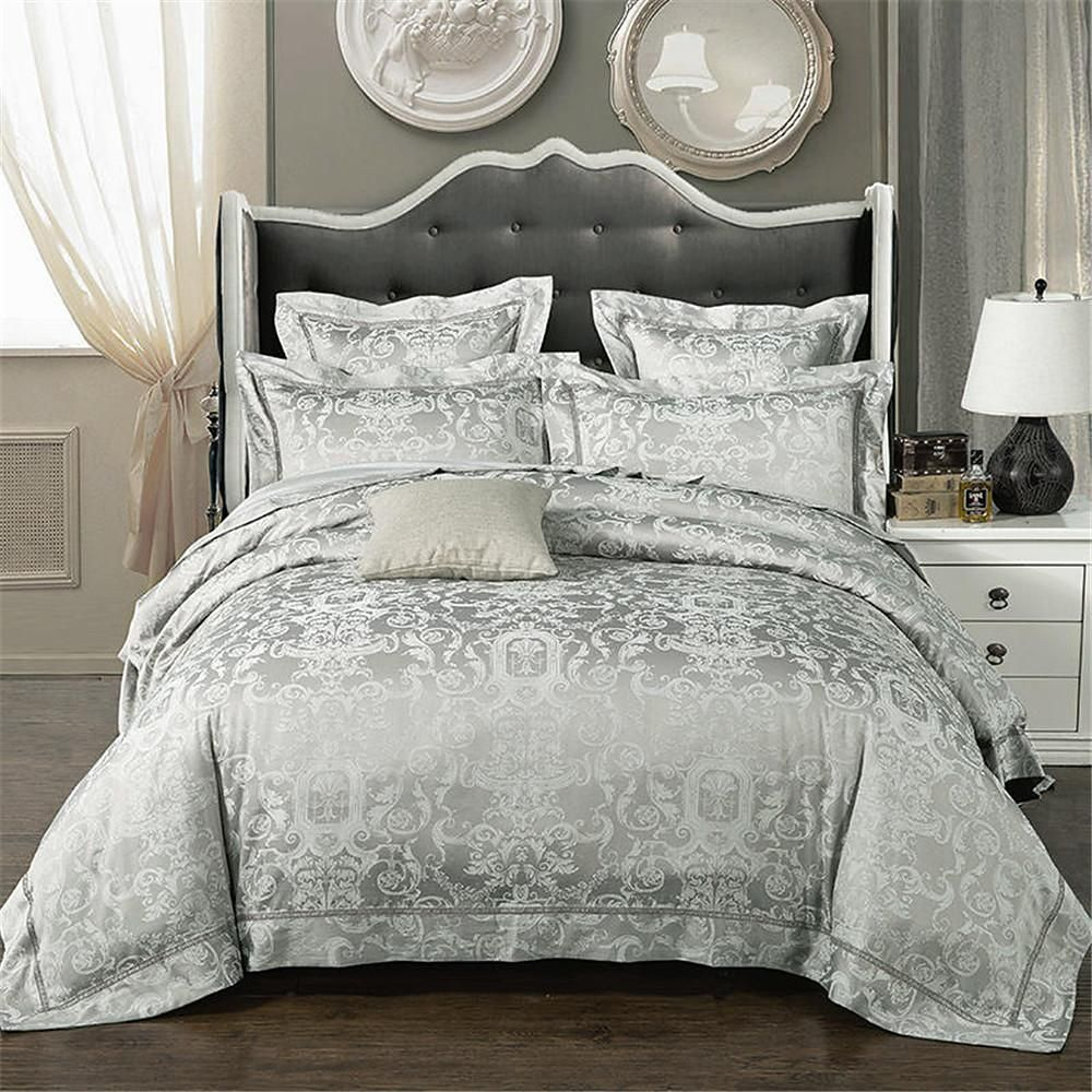 Duvet Cover Sets Solid Colored Luxury Poly Cotton Jacquard