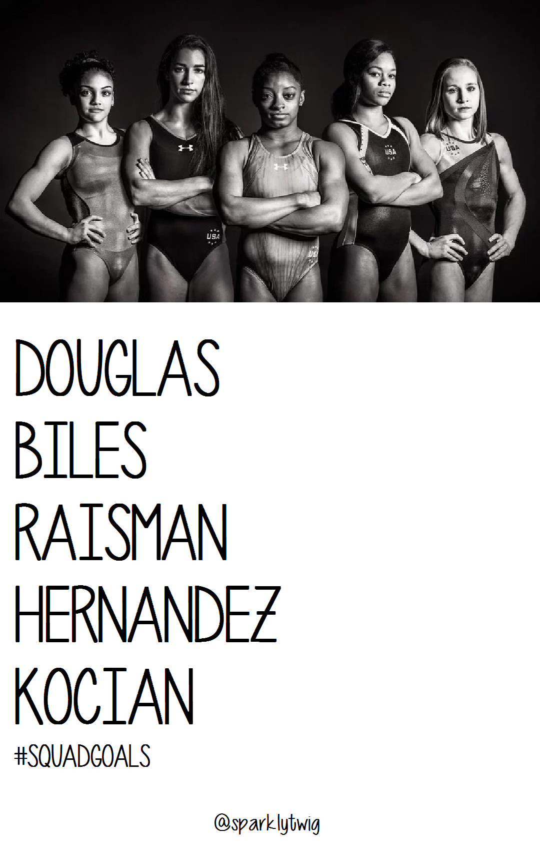 Team USA Olympic Women's Gymnastic Team for the 2016 Rio Olympics. These ladies have been so fierce on the Road to Rio!