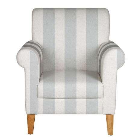 Exceptional Grey Stripe Valencia Armchair | Dunelm