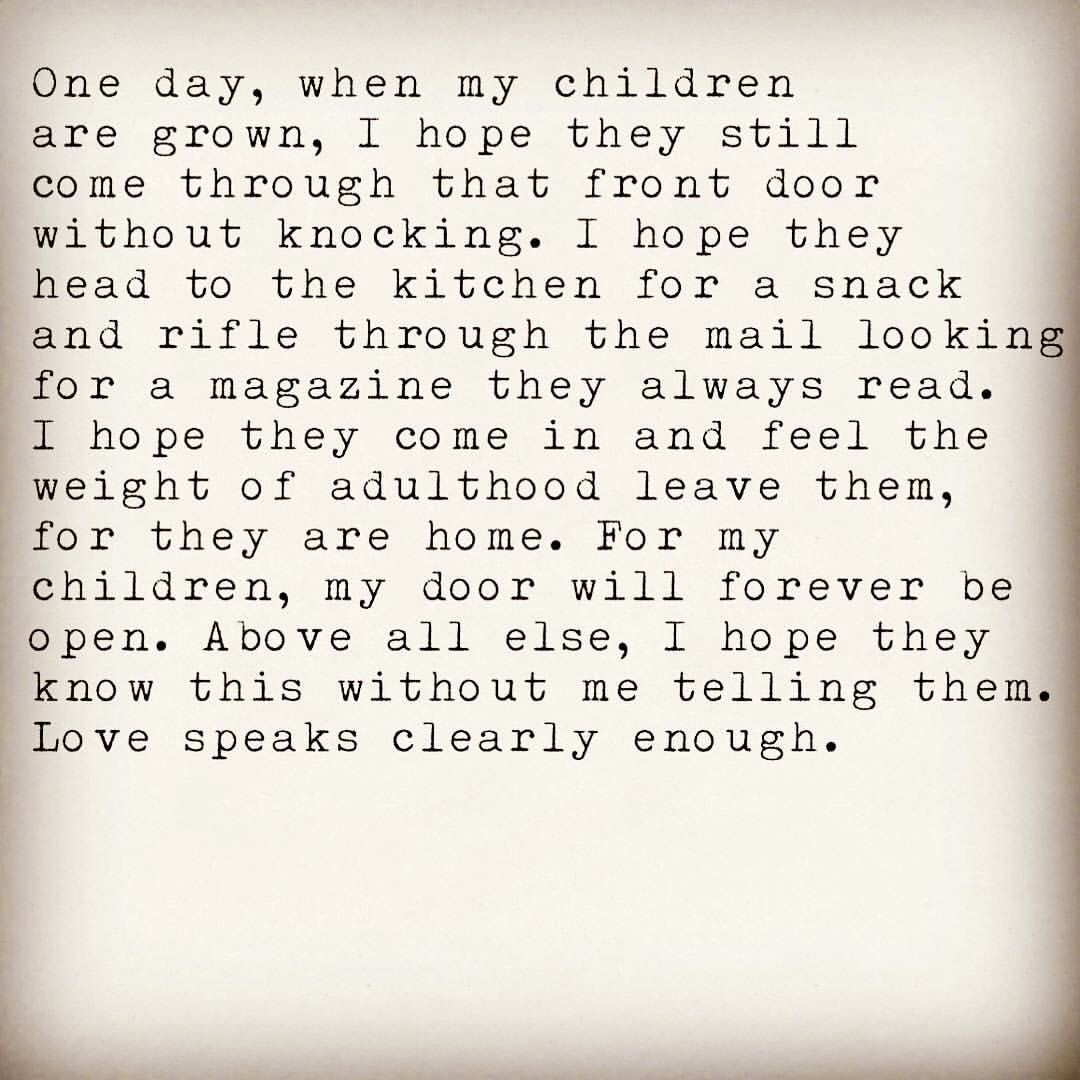 My Door And Heart Are Always Open Quotes For Kids Quotes My Children