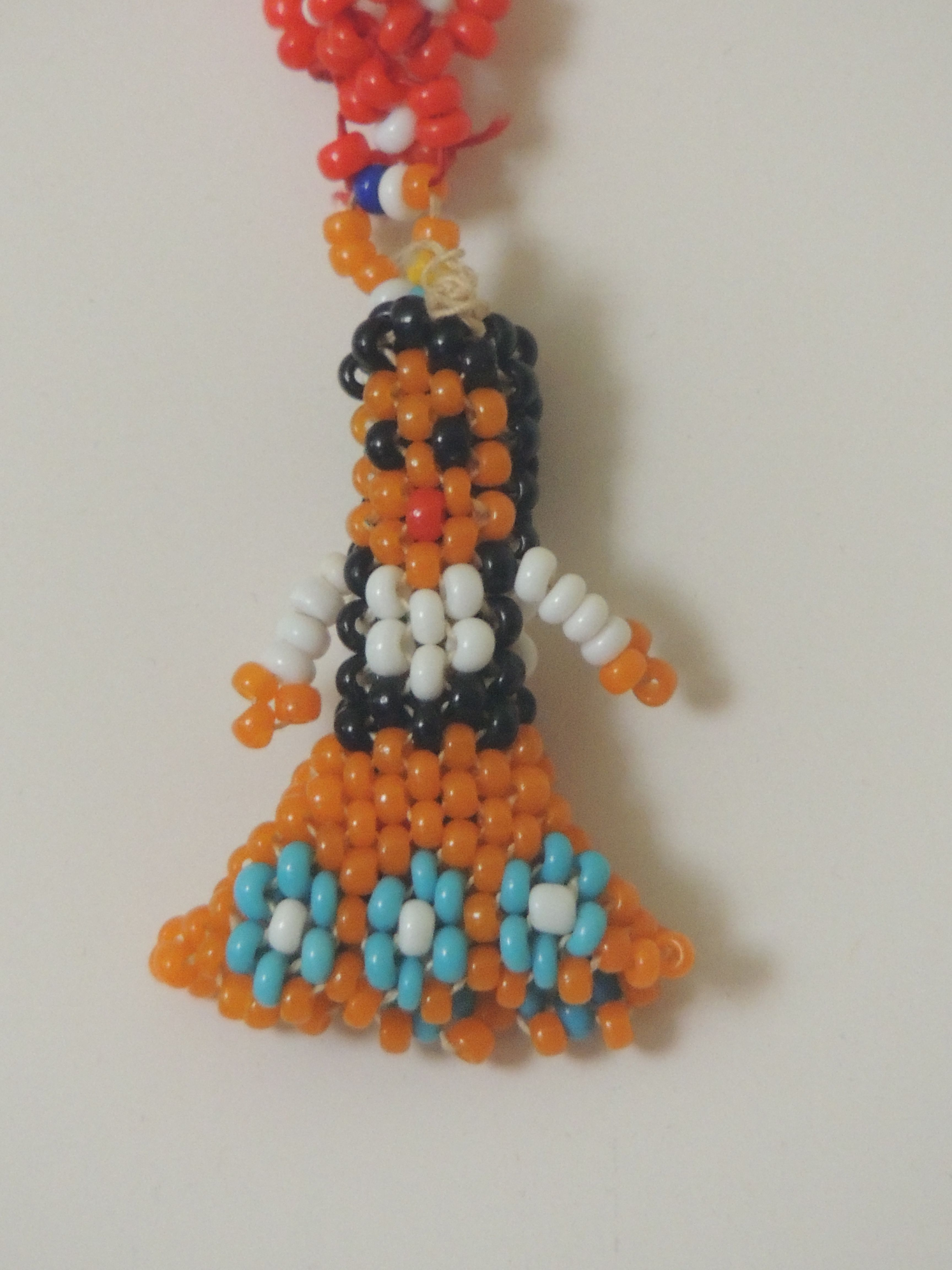 Blue Drop Bead Earrings for American Model 22 in Doll