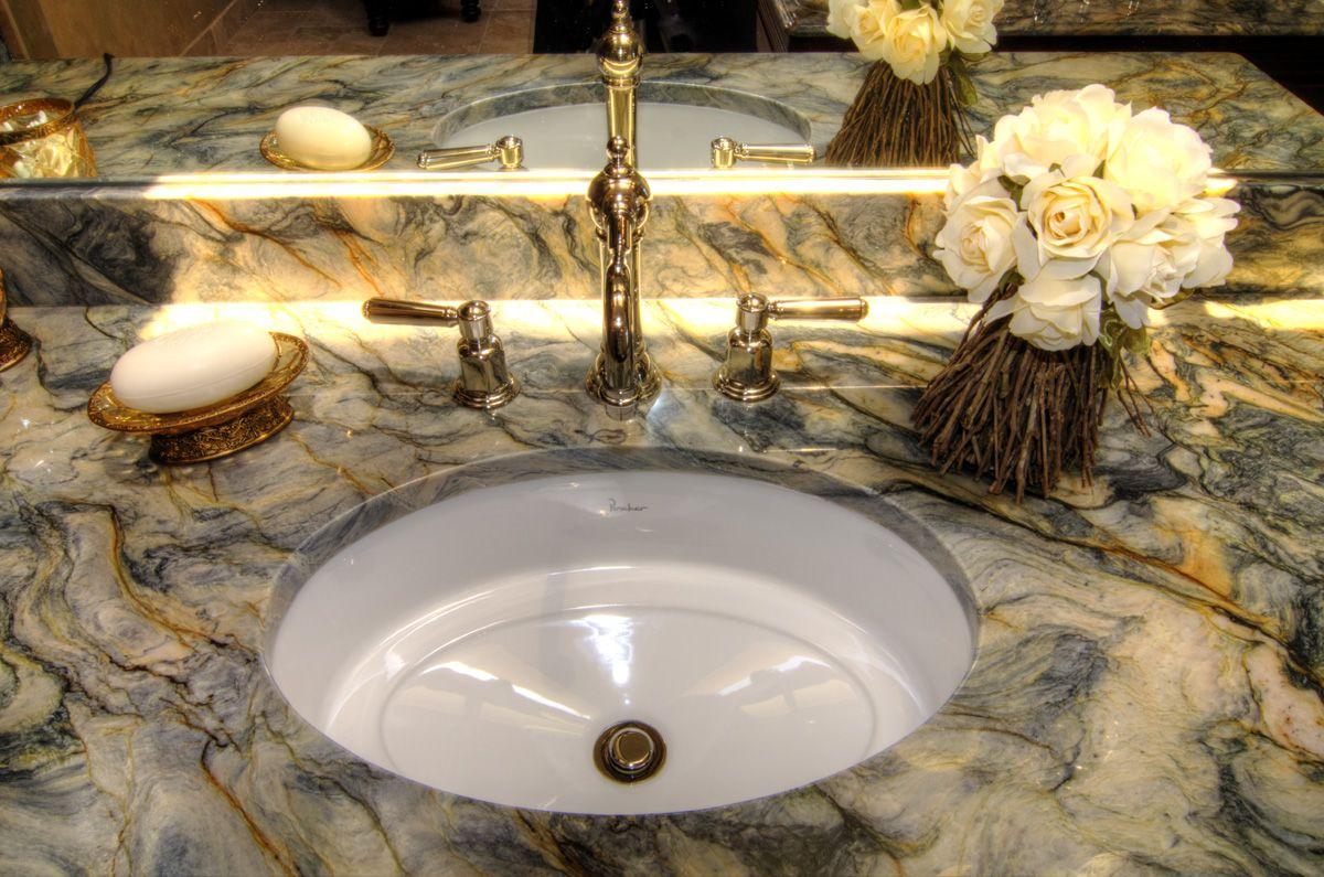 undermount bathroom sinks   Piedras naturales, Cuarto de ...