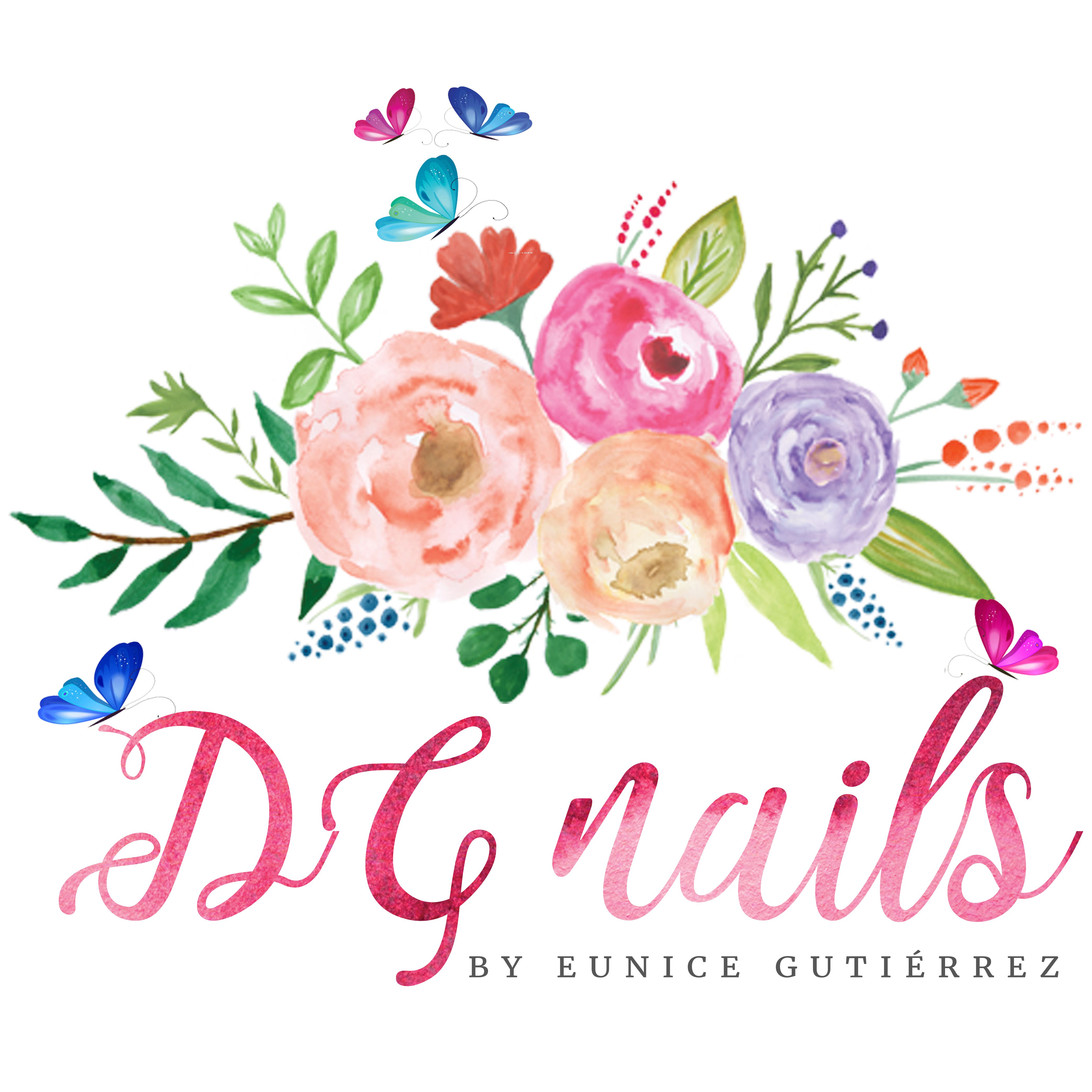 Gorgeous floral logo for DG Nails   Floral Logos   Pinterest ...