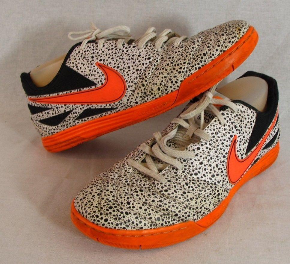 online store ac457 a3722 Nike Lunar Gato Safari Orange Indoor Soccer Shoes Size 11 Cristiano Ronaldo  Mens Nike AthleticSneakers