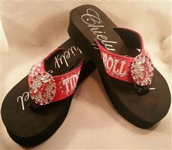 fed9f58c48b2f5  Chiely Noel Roll Tide Bling Flip Flops on sale now at Unique Accessories  And More dot com! RTR Please Share
