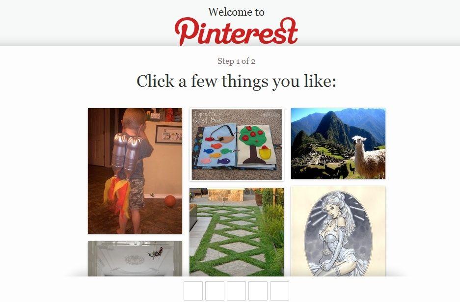Ecco La nuova pagina di login di Pinterest. Sembra che