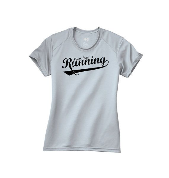 Never Stop Running Workout Running Performance Ladies Women Crew