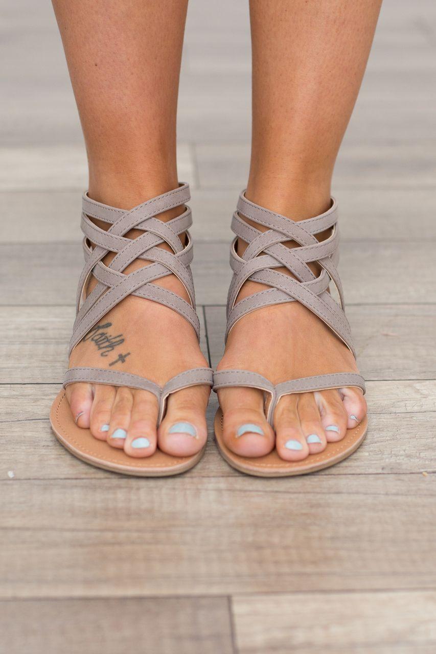 Kleidung & Accessoires Riemchen Sandalen Damen Flach Mode