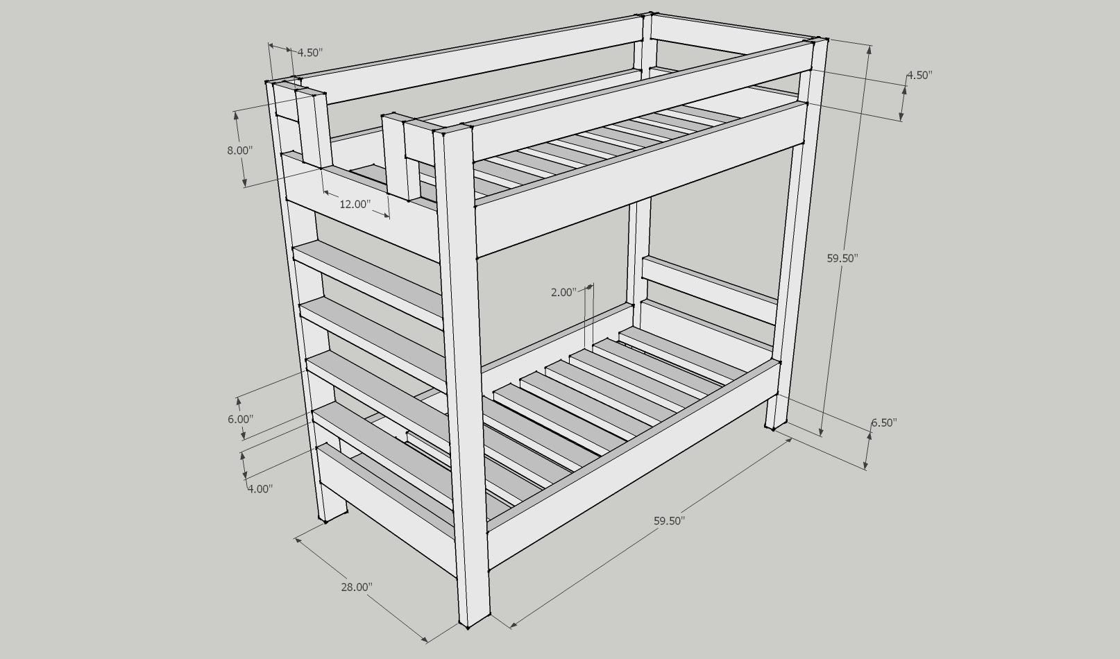 Free diy bunk bed plans kreg jig bunk bed plans kreg jig for Bunk bed woodworking plans
