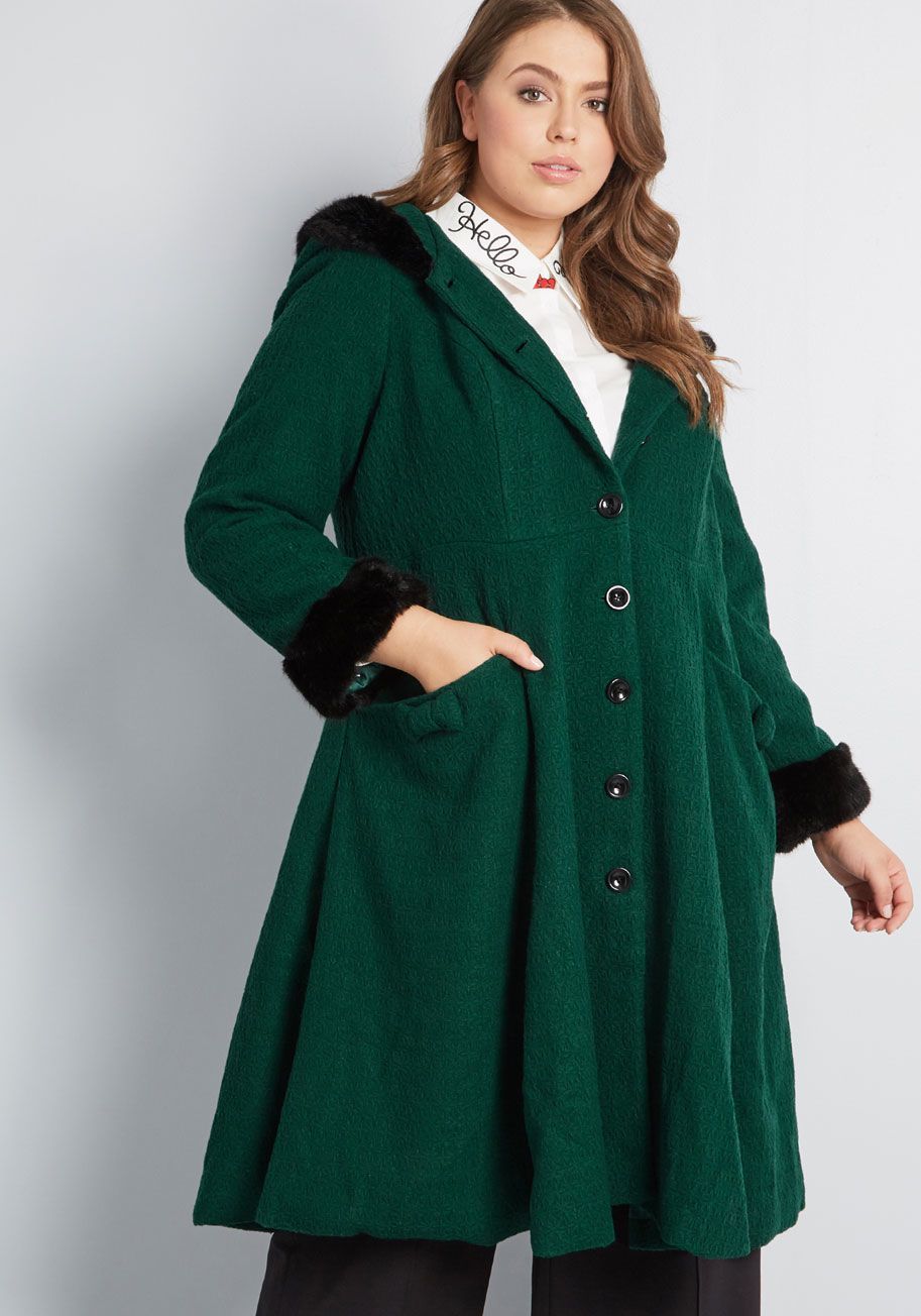 00f41b60468 Collectif x MC Winsome Warmth Fit and Flare Coat - A drop in temps means  the rise of outerwear style