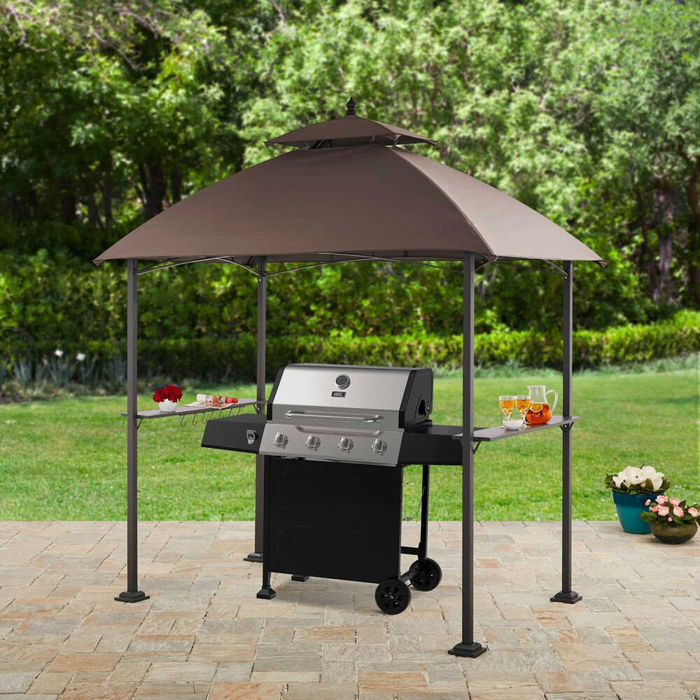 Gazebo Canopy Grill Tent 7.8W x 4.9D ft. Outdoor Tent ...