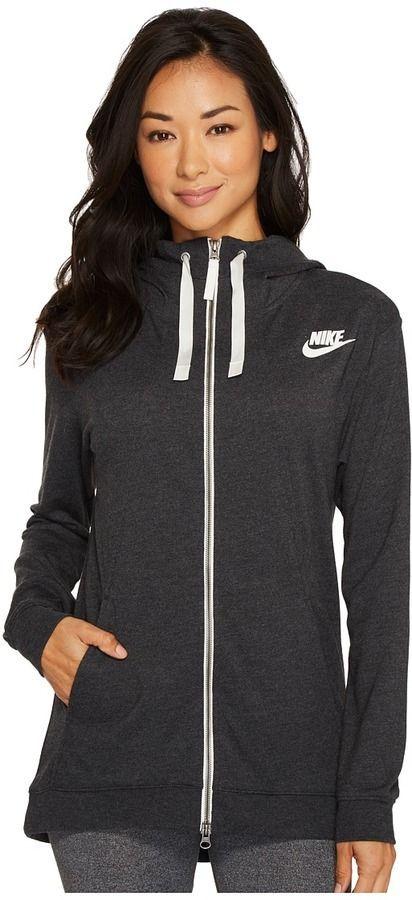 ca7a4b123aa8 Nike Sportswear Gym Classic Full Zip Hoodie Women s Sweatshirt ...