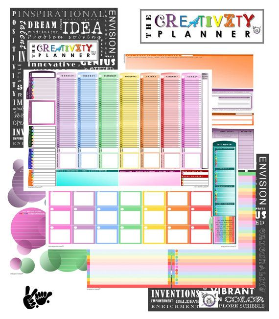 The Creativity Planner Full-color, colorful edging, undated 12