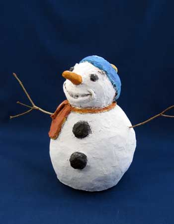 how to make snow man out of clay pots