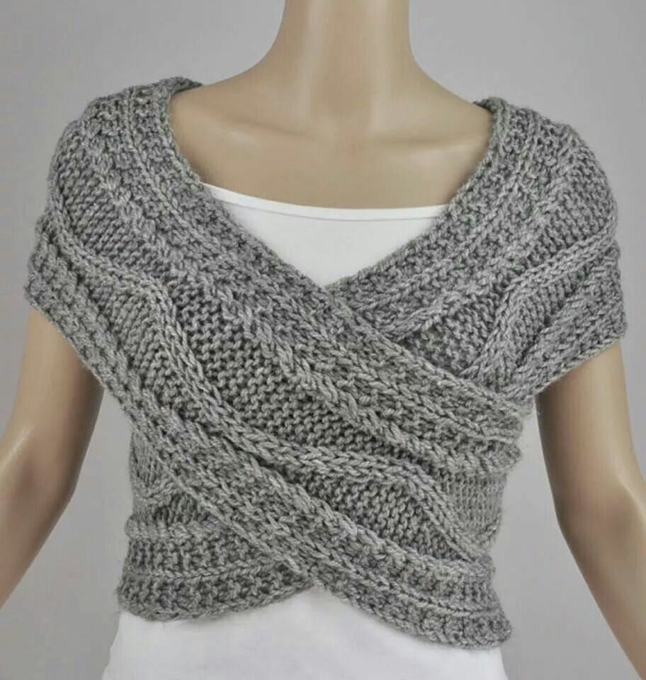 Crossover shrug craft ideas pinterest crossover nice and not free pattern hand knit vest cross sweater capelet neck warmer in by maxmelody this is awesome and doubles as a infinity scarf bankloansurffo Gallery