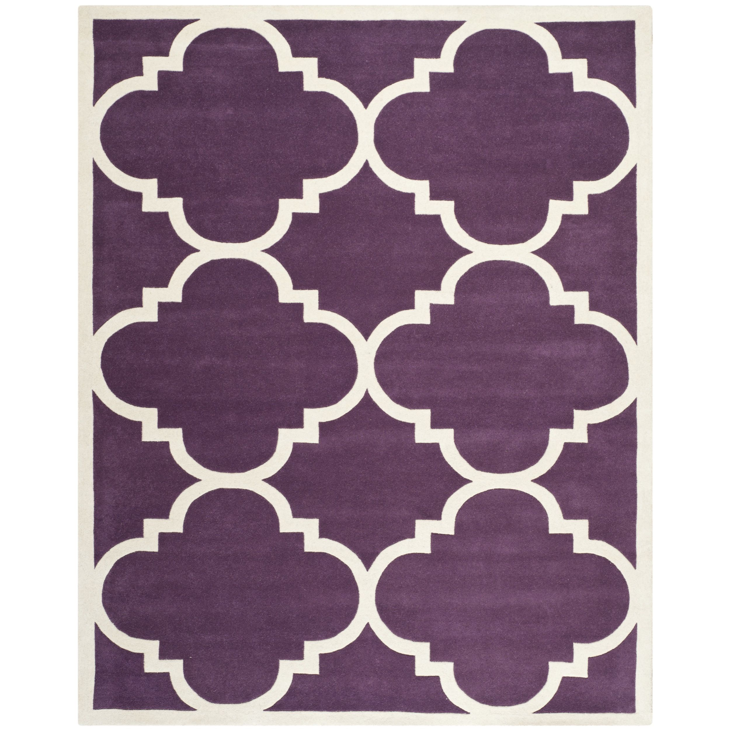 Contemporary safavieh handmade moroccan chatham purple wool rug