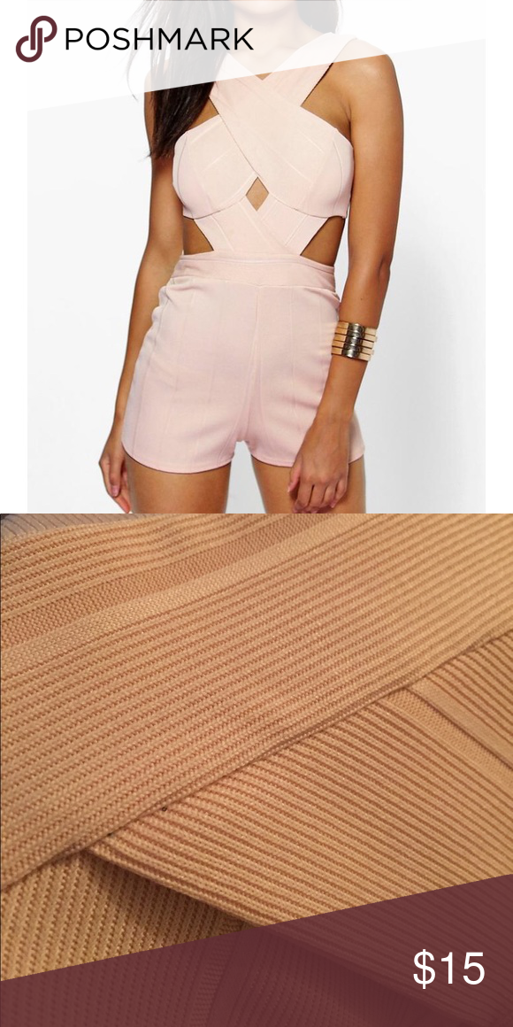 f3dd0c11e0 Jenny Cross Front Cut Out Side Bandage Playsuit NWT never got to wear it  Boohoo Other