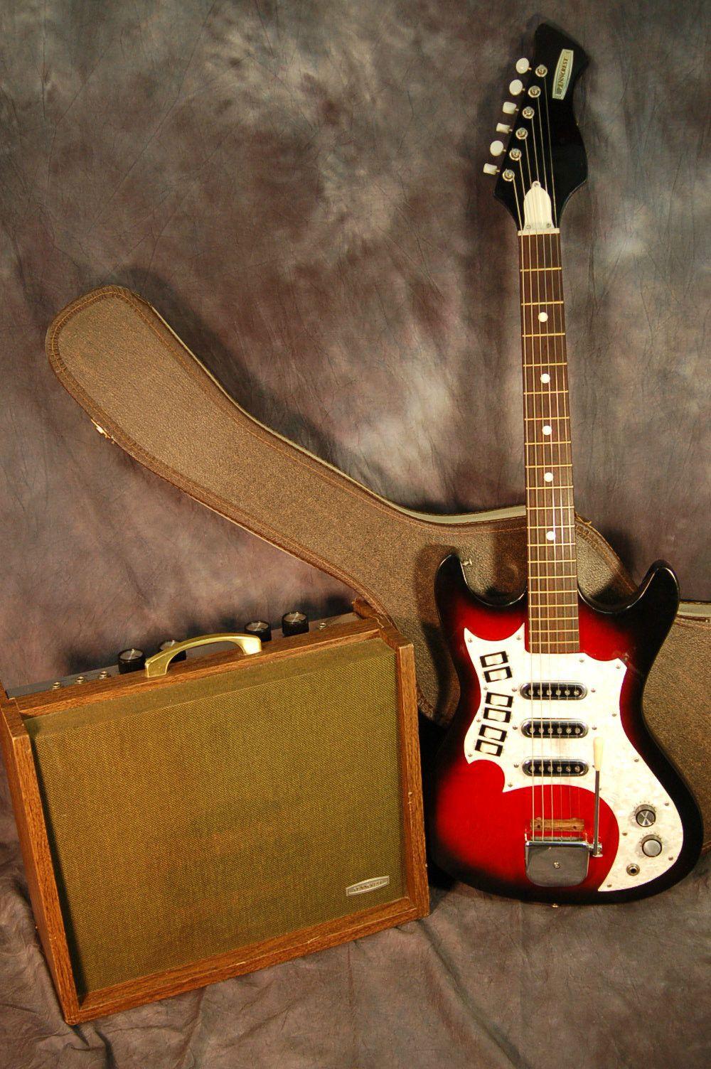 vintage rare 1960s penncrest by kay electric guitar case and amp set pro setup guitar. Black Bedroom Furniture Sets. Home Design Ideas