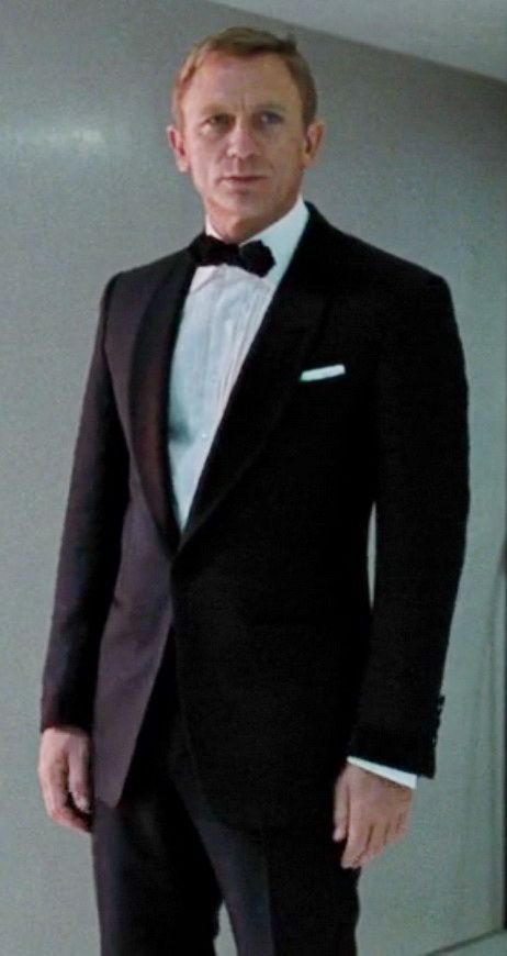 The Grooms Attire Daniel Craig in Shawl Collar Tuxedo