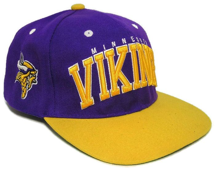 Minnesota Vikings NFL Purple Sideline Snapback Adjustable Hat Flat Bill Cap… 18a8607f83c