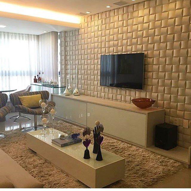 Resultado de imagem para sala revestimento 3d for Revestimento 3d sala de estar
