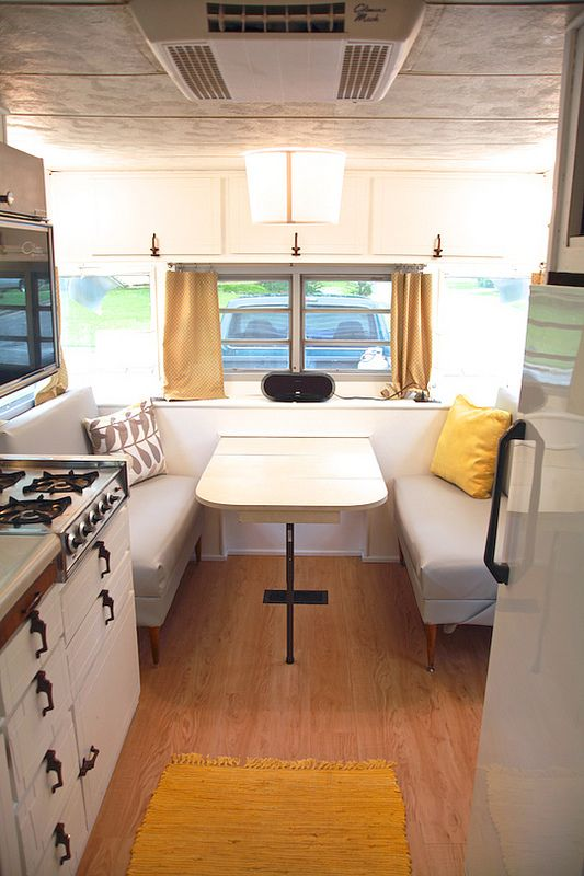 Vintage camper turned glamper diy renovation rv spaces and camping Diy caravan interior design ideas
