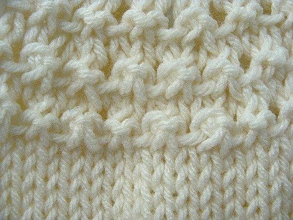 Crema de bebé suéter tejido a mano