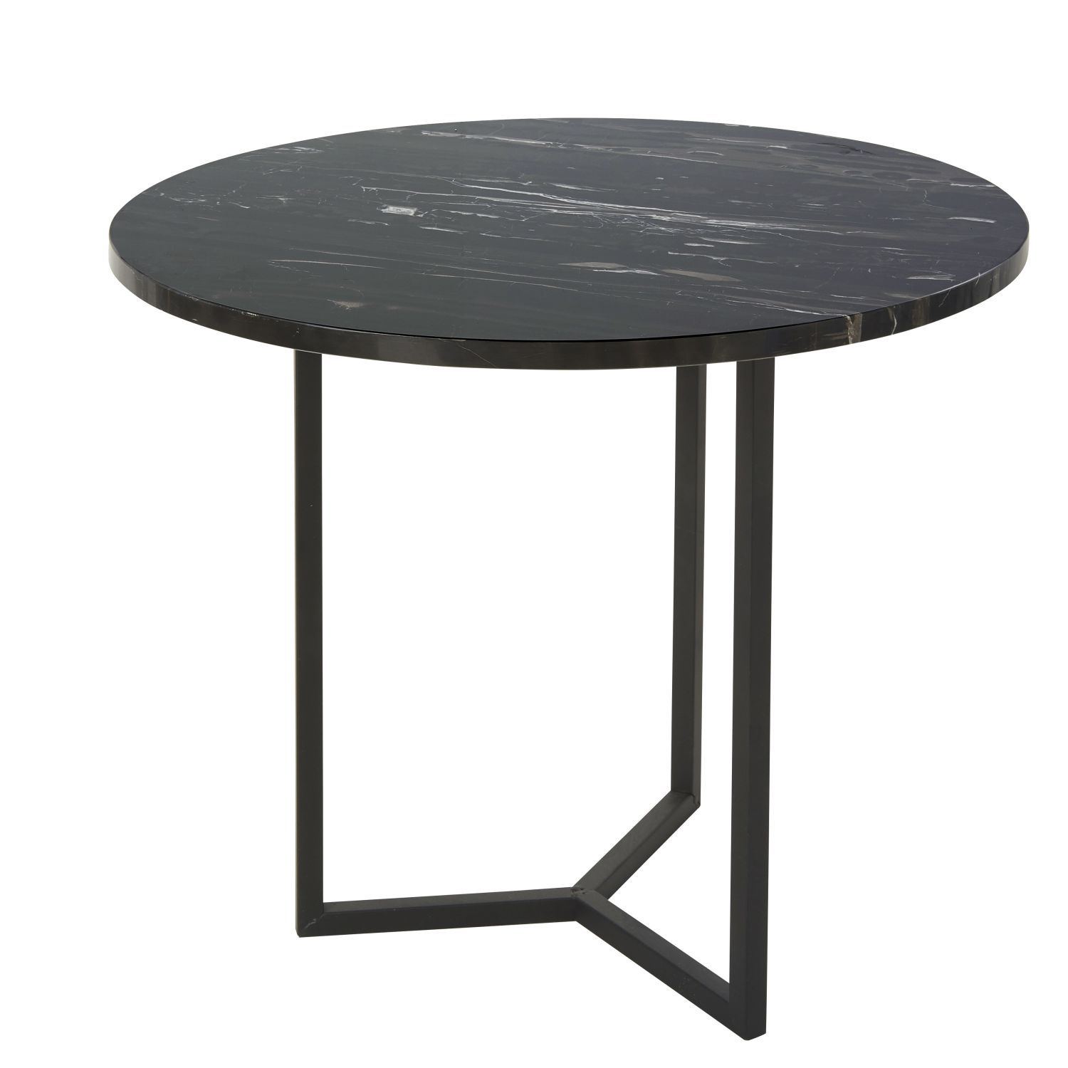 Marble And Black Metal End Table Metal End Tables End Tables Furniture
